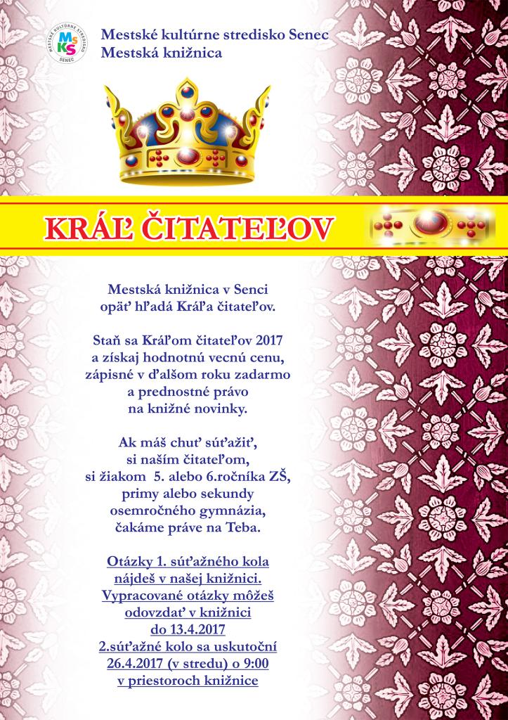 plagat kral citatelov 2017